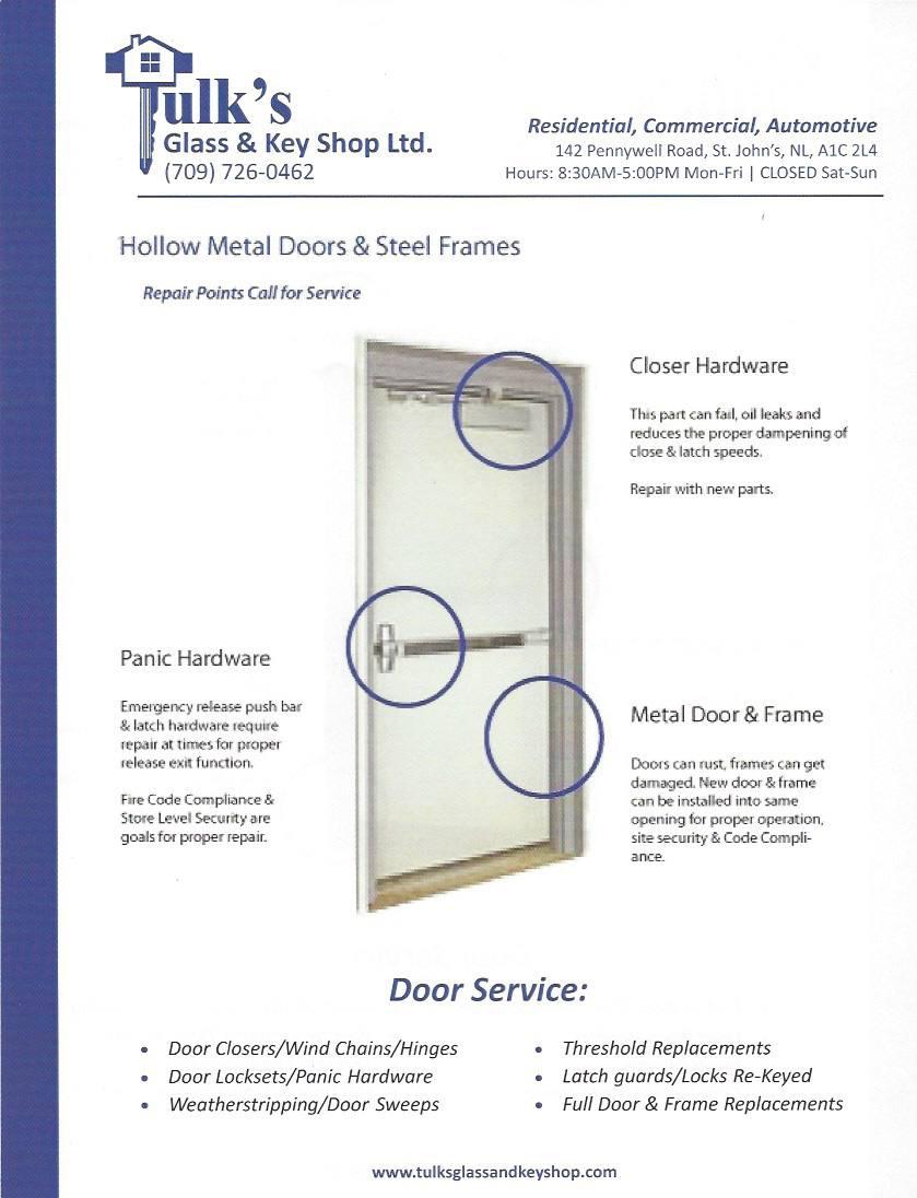 diagram of hollow metal door services